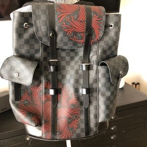 Auth Louis Vuitton BackpackDamier Graphite